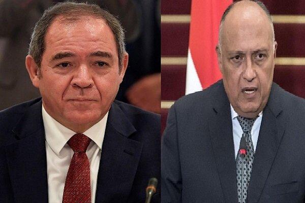 رایزنی تلفنی وزیران خارجه مصر و الجزایر